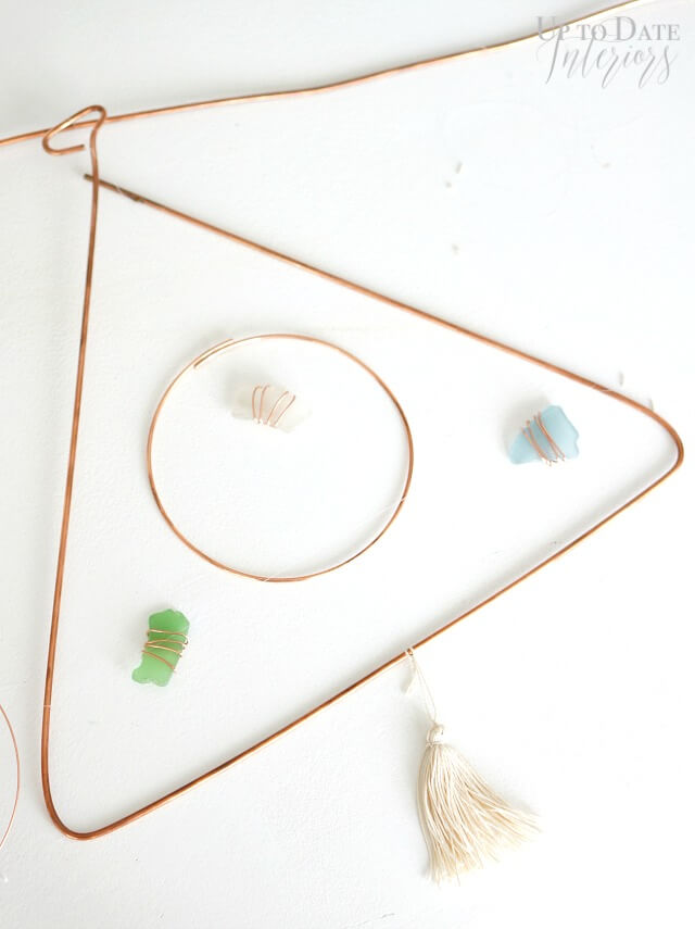 DIY Modern Mobile sea glass
