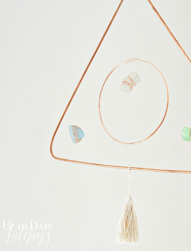 DIY Modern Mobile with Sea Grass and Copper