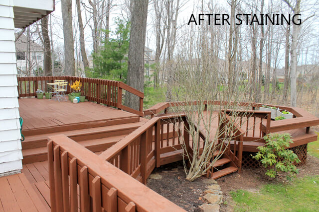 Before Picture - Deck After Staining
