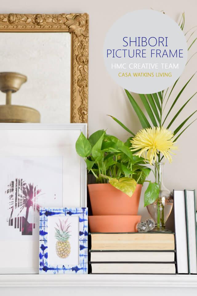 DIY Shibori Picture Frame