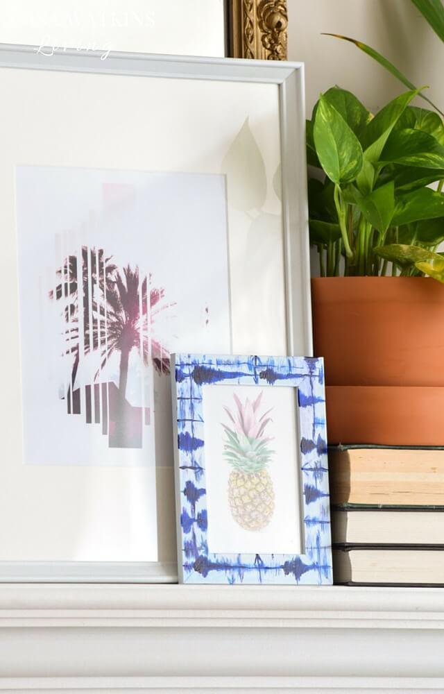 DIY-painted-faux-indigo-shibori-frame-tutorial