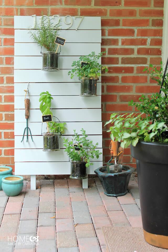 Hanging patio garden