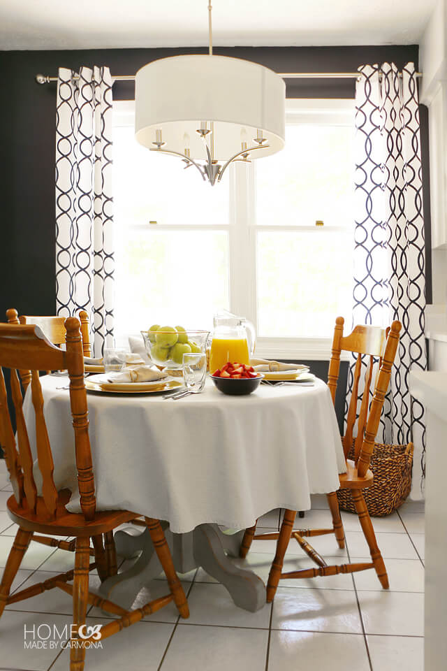 Kitchen dining space makeover