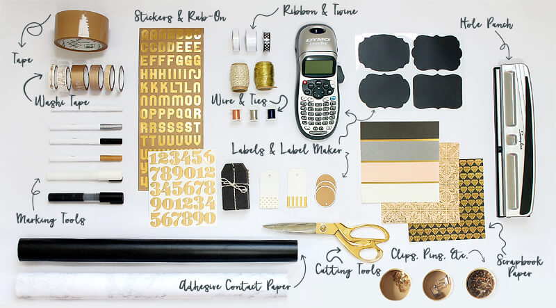Organizing Kit Must Haves - clever uses for all the listed products