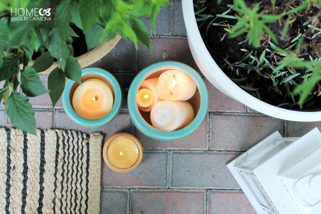 Outdoor candles to keep bugs at bay