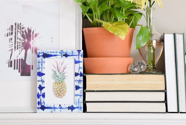 Shibori picture frame - featured image
