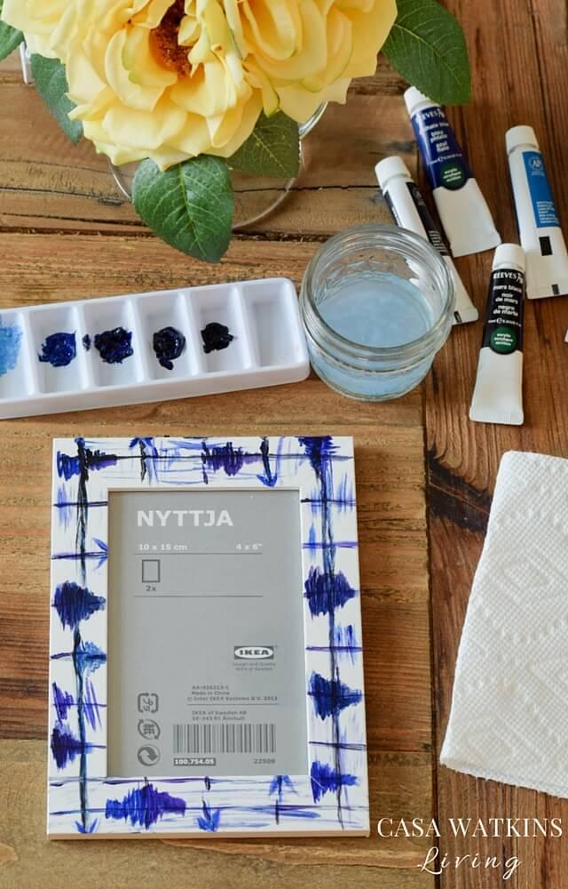 how-to-make-a-painted-faux-shibori-frame-tutorial