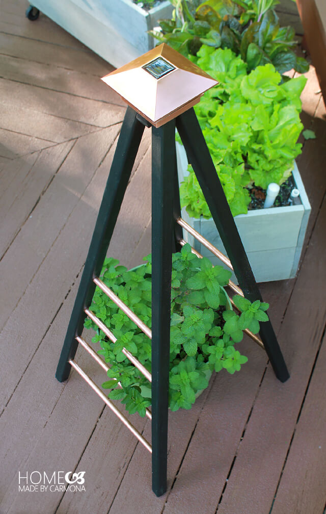 DIY Copper Trellis