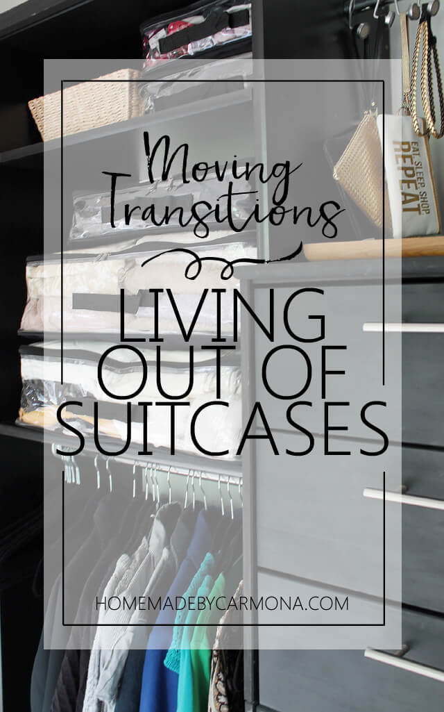 Great solution for living out of suitcases while moving