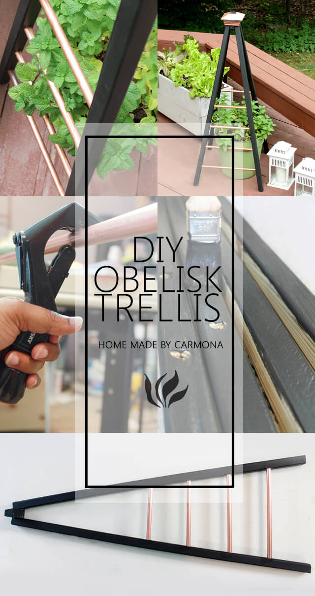 How to Build a Copper Obelisk Trellis