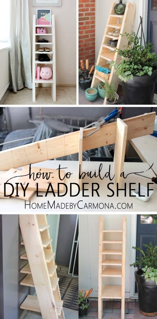 Diy Ladder Shoe Shelf Home Made By Carmona