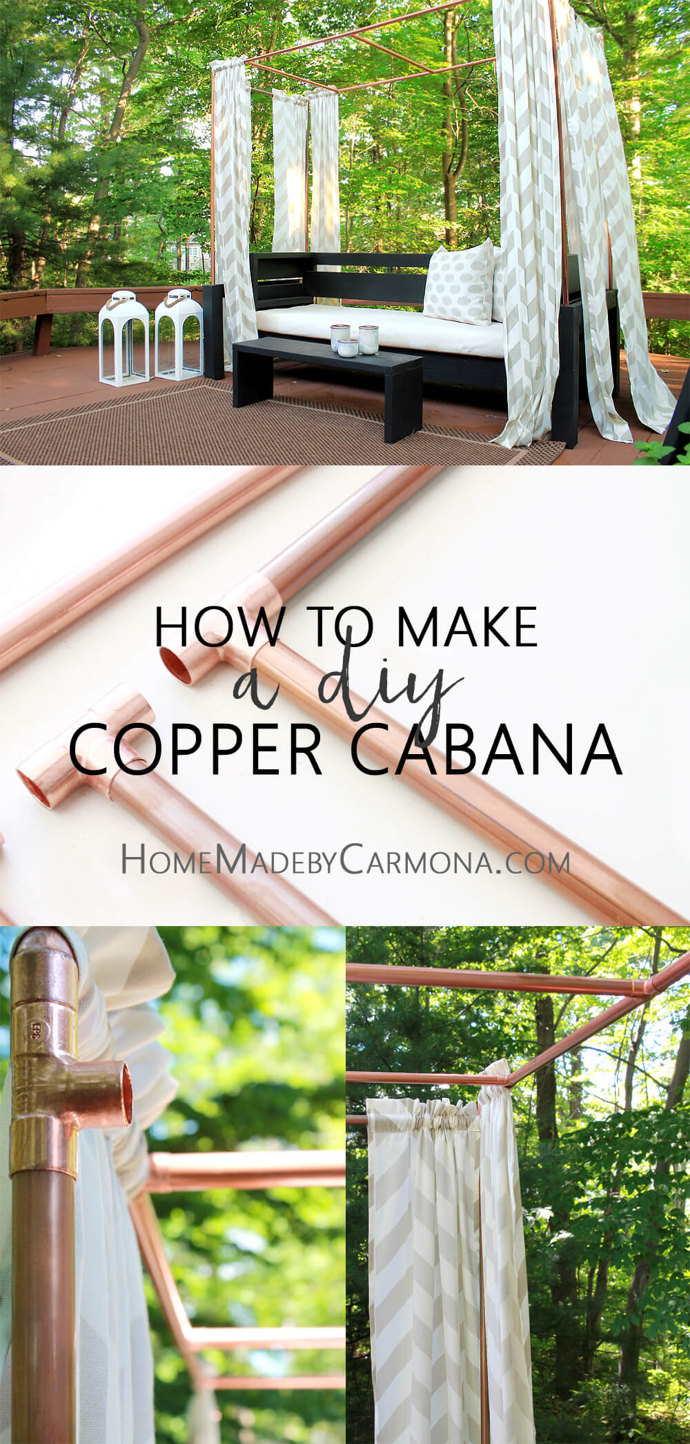 How to make a DIY Cabana out of copper pipes