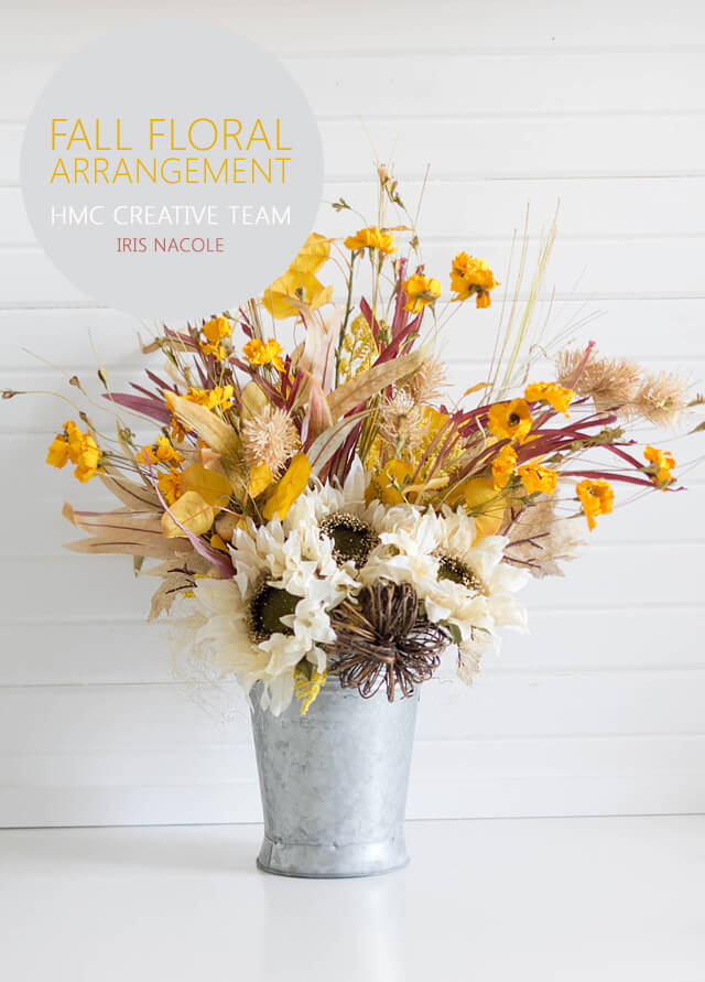 Rustic Fall Floral Arrangement Tutorial