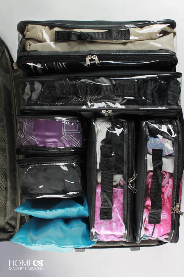 Superior luggage packing set