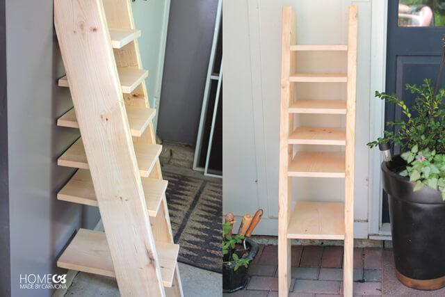 DIY Ladder Shelf - build plans