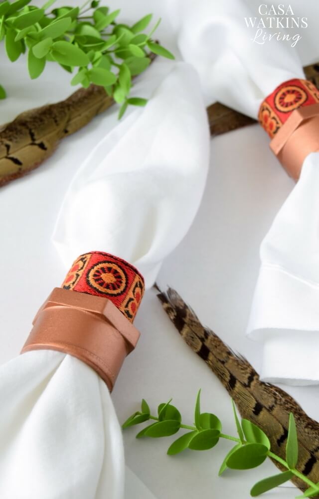 diy-african-napkin-rings-with-ribbon-and-pvc-pipe-tutorial