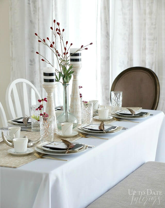 Folding table for guests