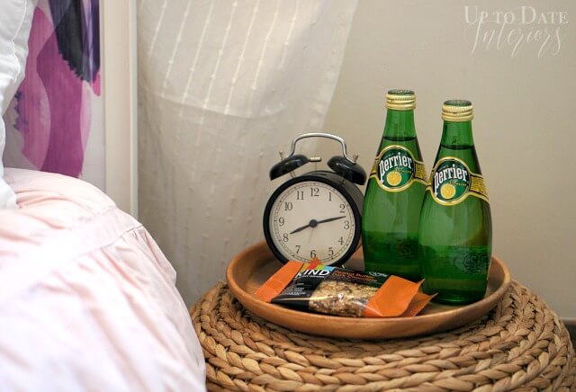 Guest ready bedside snacks