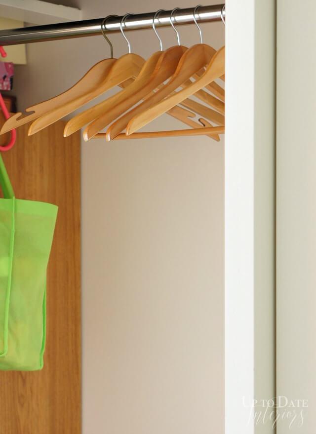 Guest ready wooden hangers