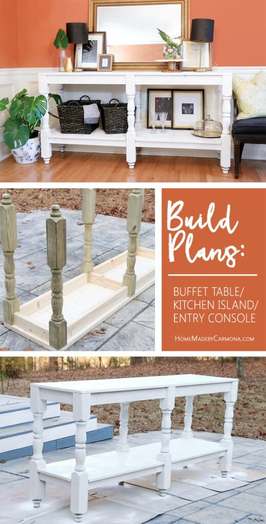 free-build-plans-buffet-table-kitchen-island-entry-console