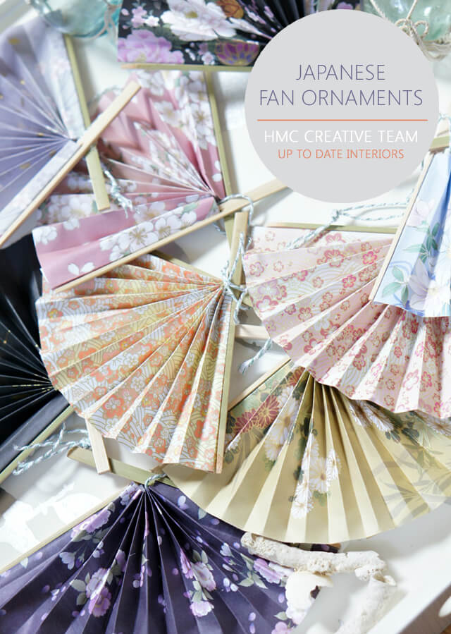 How to make Japanese Fan Ornaments