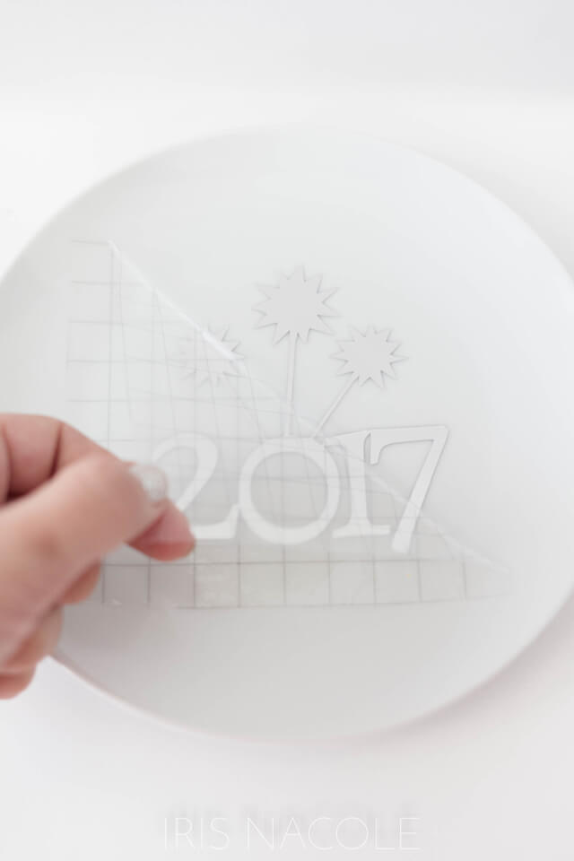 new-years-eve-plate-decal-application