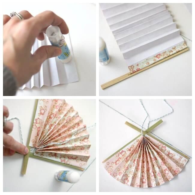 DIY Fan ornaments