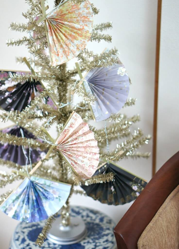 Japanese Christmas Fan Ornaments