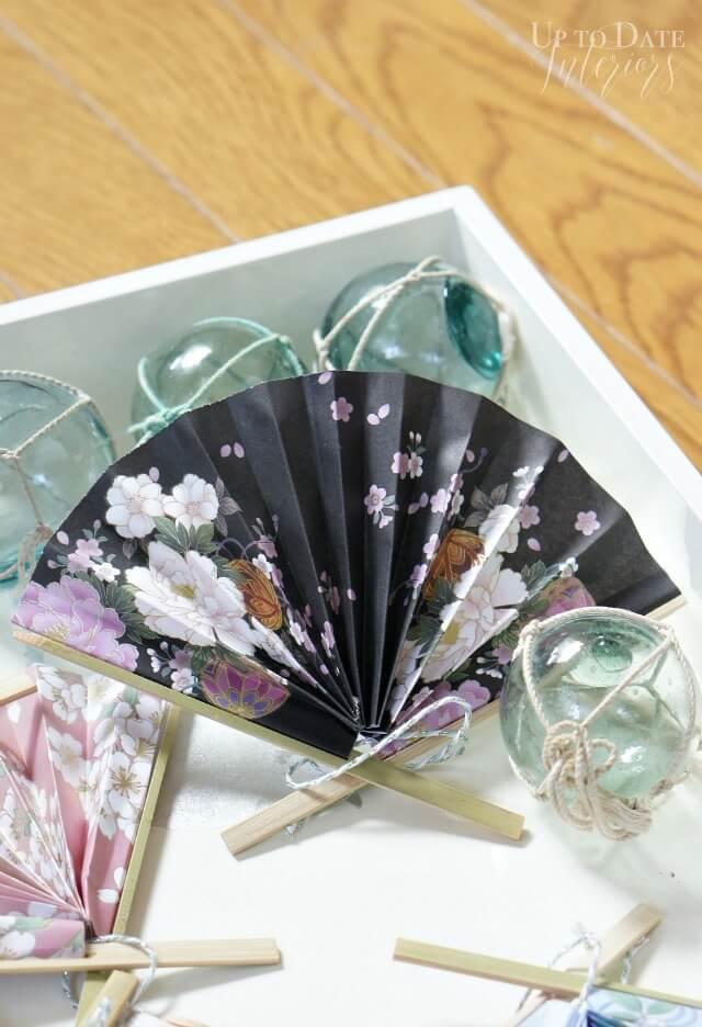 DIY Japanese Floral Fan Ornament