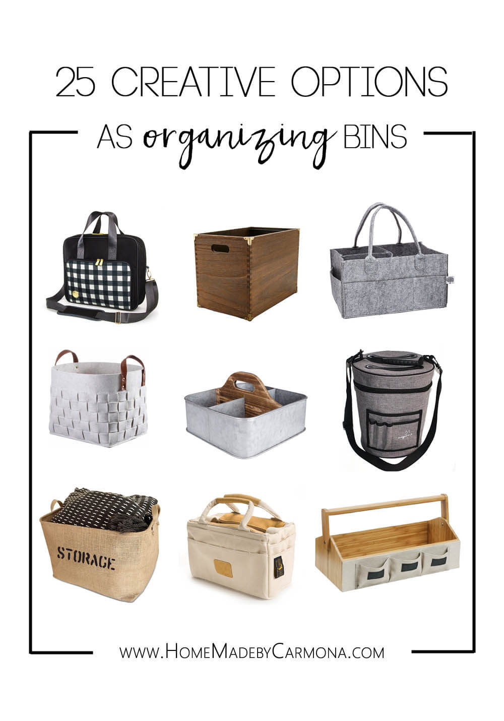 25 Creative Options as Organizing Bins
