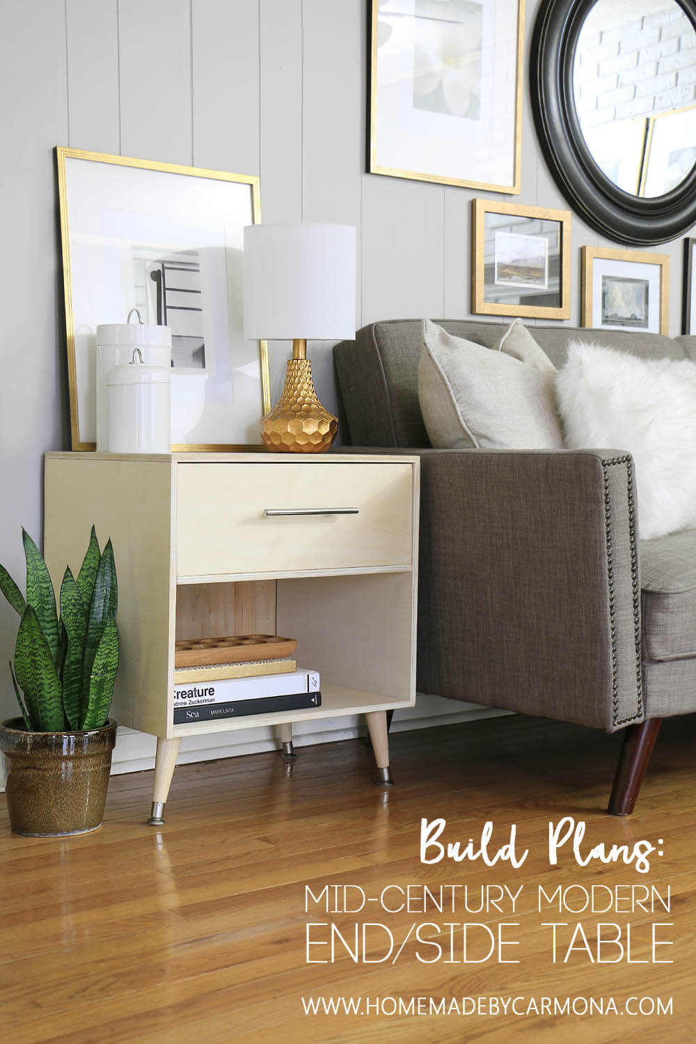 Build Plans - Mid Century Modern End Table - DIY Side Table