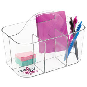 Clear office caddy