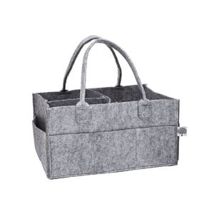 Felt bag with compartments