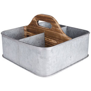 Galvanized caddy