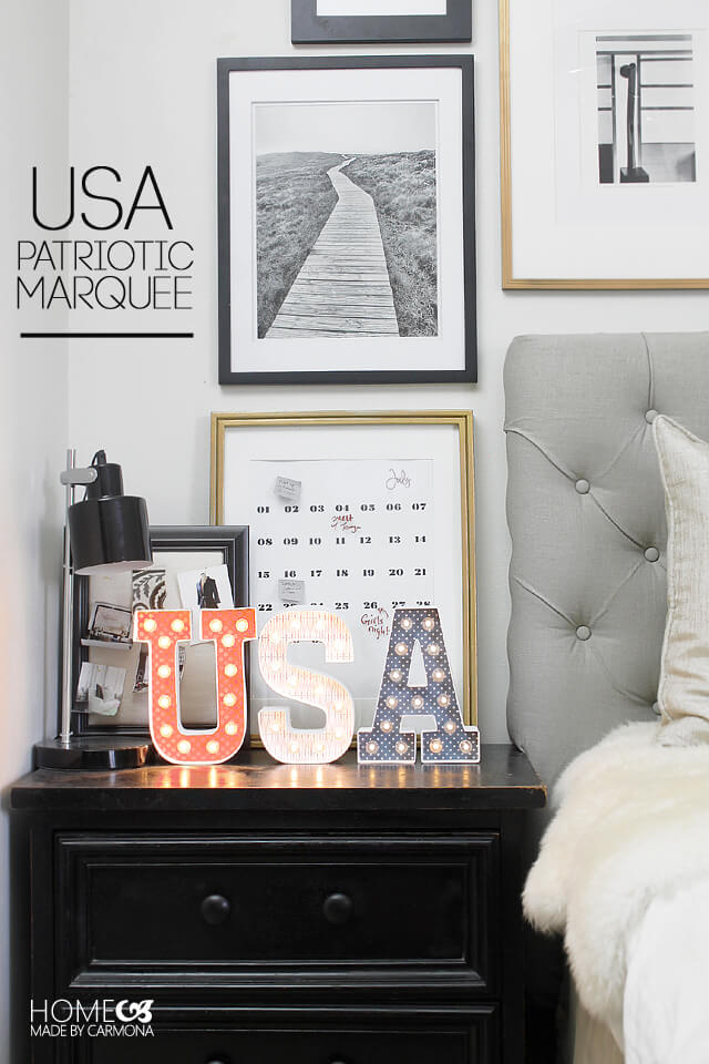USA Patriotic Marquee - 4th of July Project