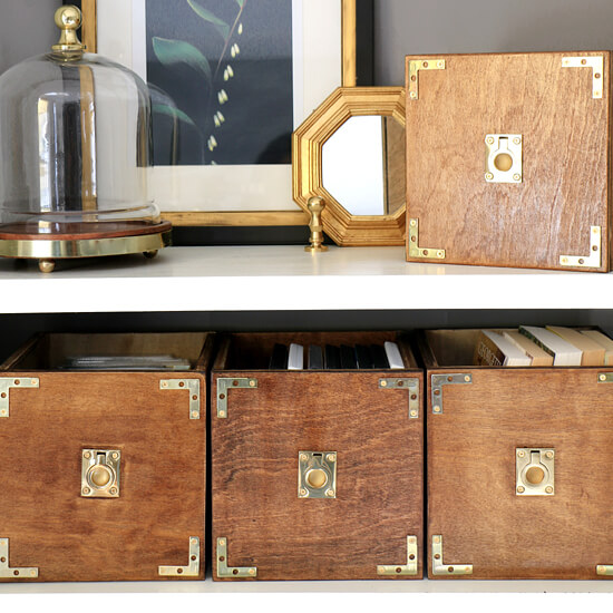 DIY Campaign Style Storage Boxes - 550