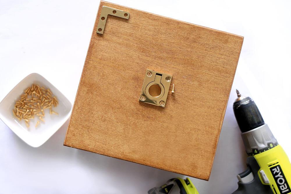 DIY Storage Boxes - Add hardware