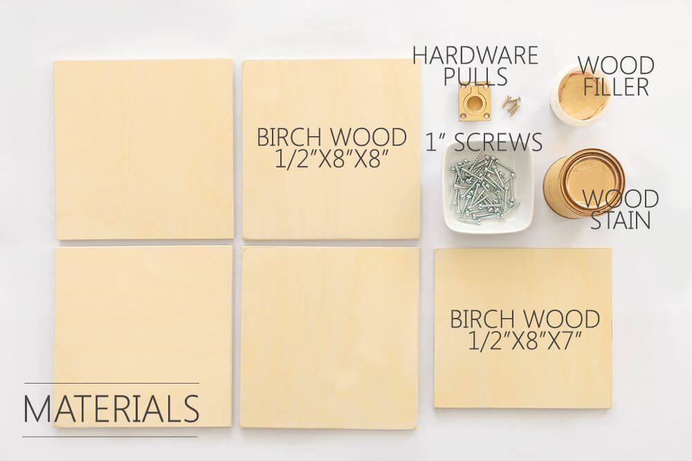 DIY Storage Boxes - materials