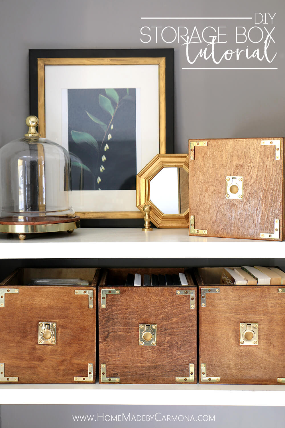 Diy Campaign Style Storage Boxes Home Made By Carmona