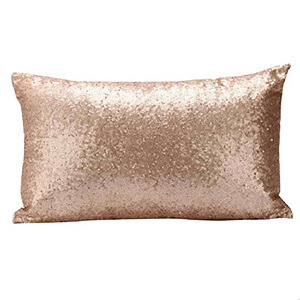 Sequined glitter pillow case