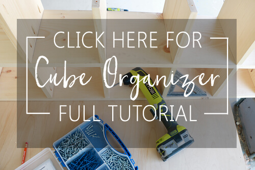 Cube Organizer - full tutorial here