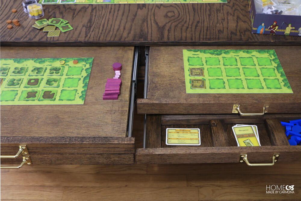 DIY Coffee Table - Gaming pullouts