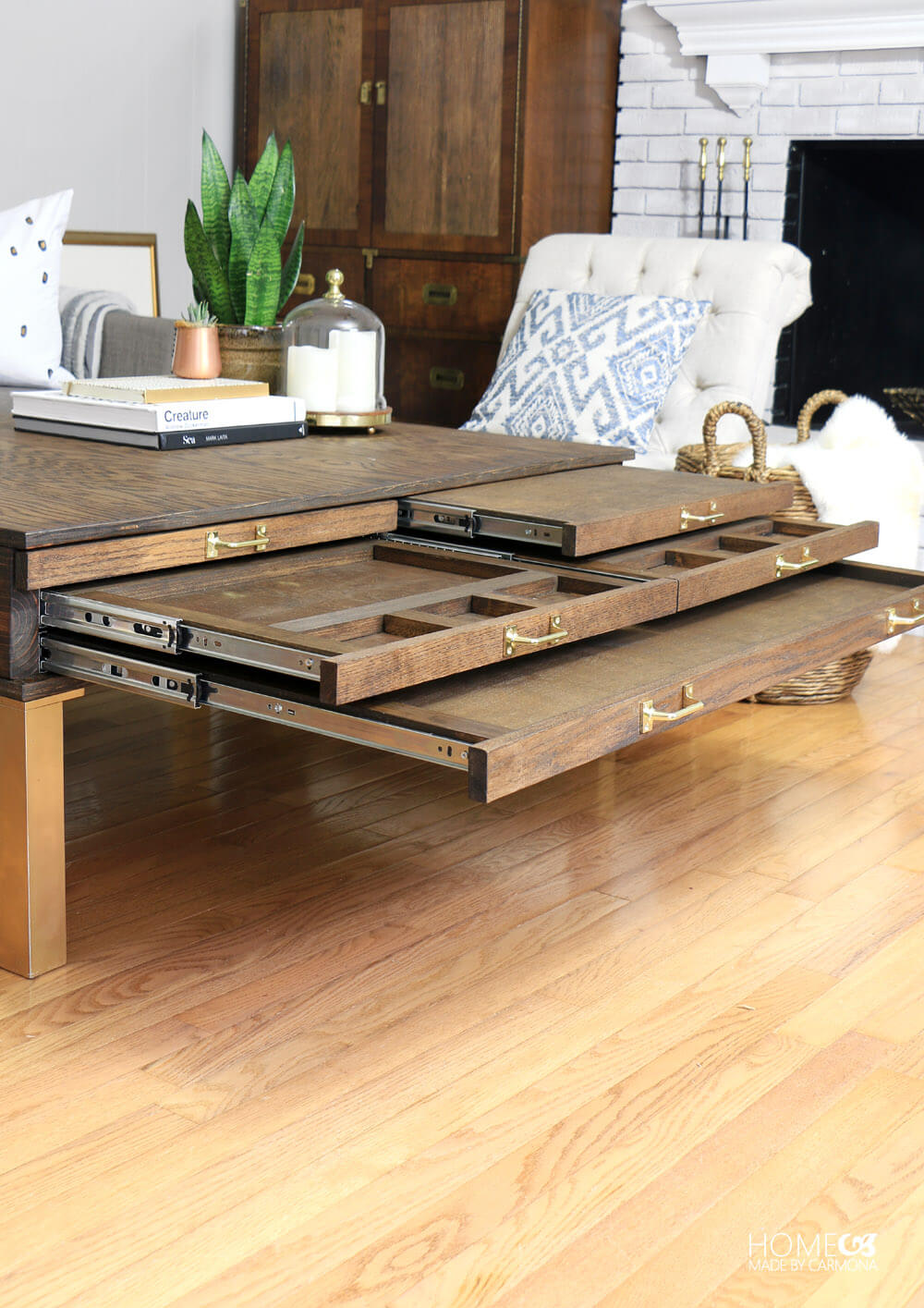 DIY Coffee Table With Storage Compartments