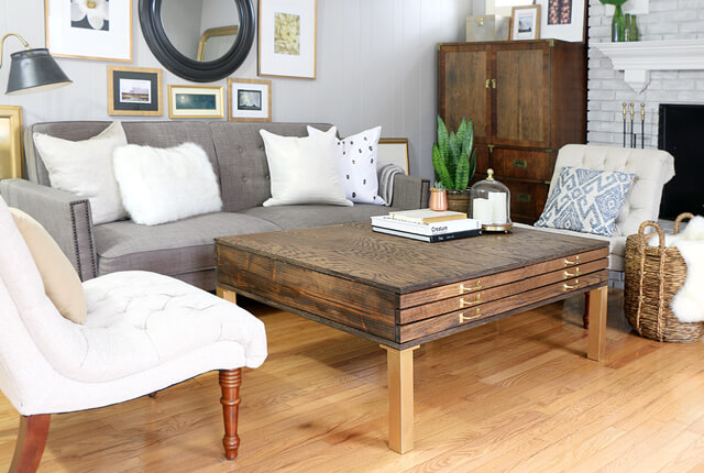 DIY Coffee Table With Storage - featured image