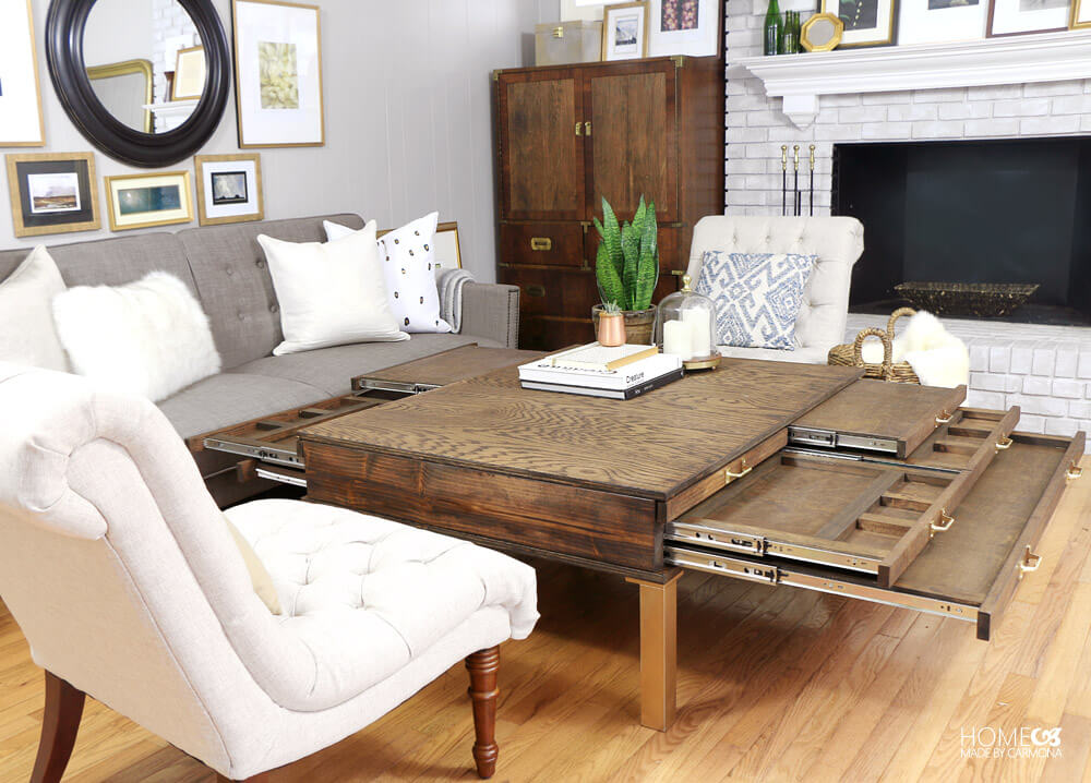 How To Build a Coffee Table With Pullouts