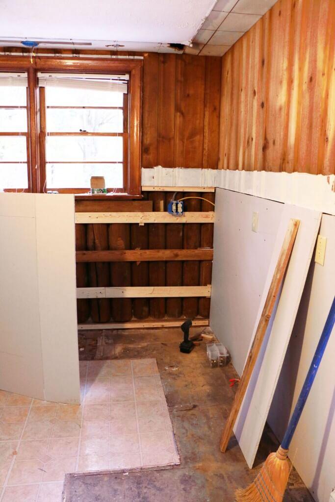 Cottage Kitchen Renovation - drywall