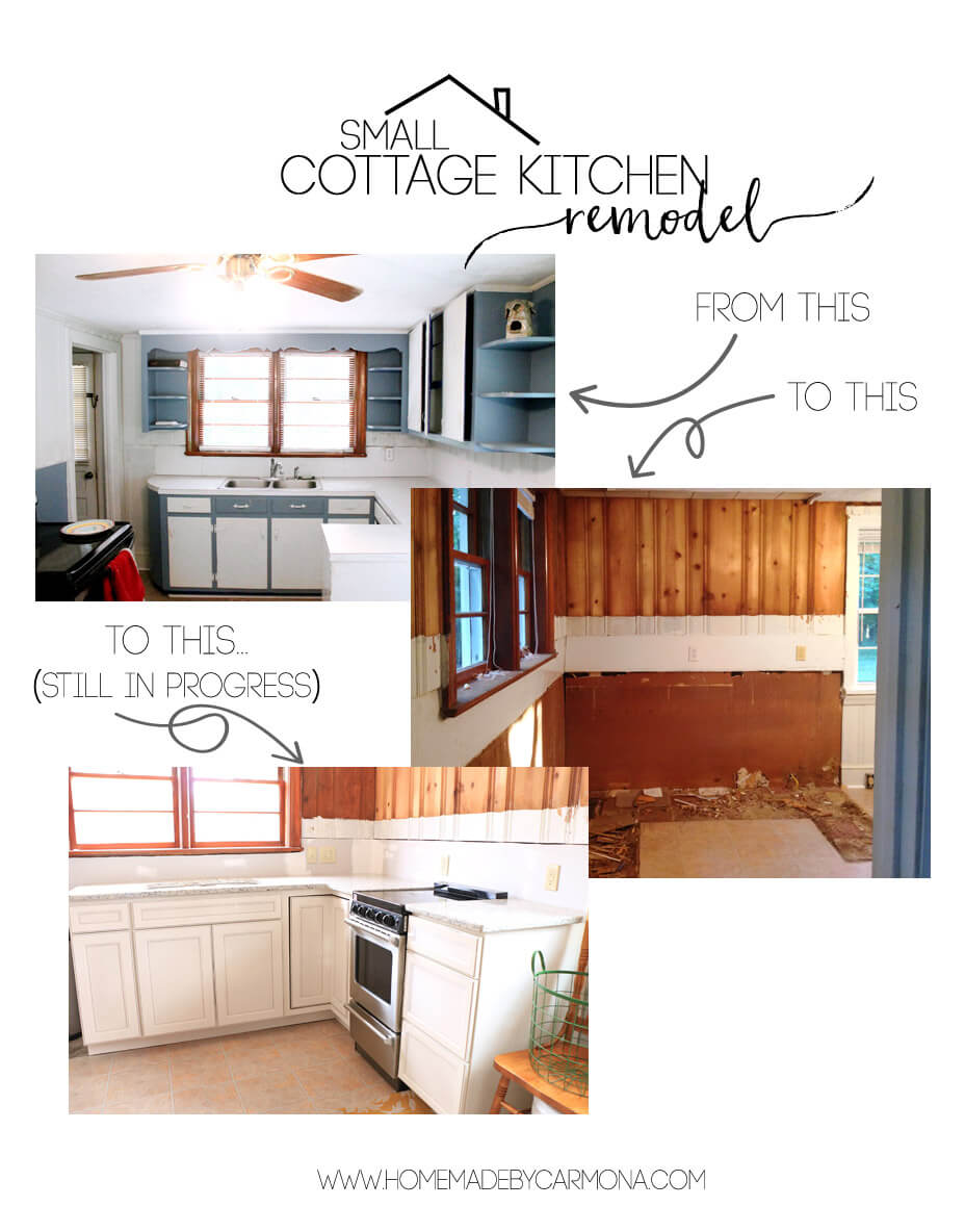 Small Cottage Kitchen remodel - in progress