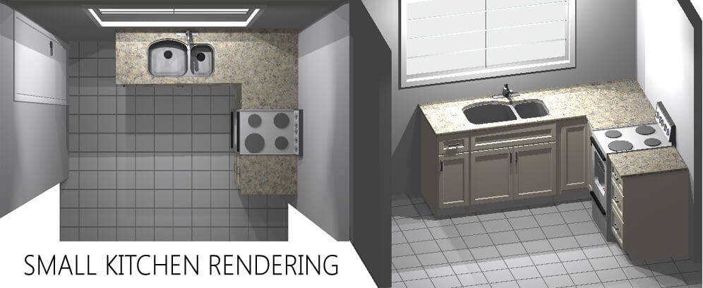 Small Kitchen Rendering