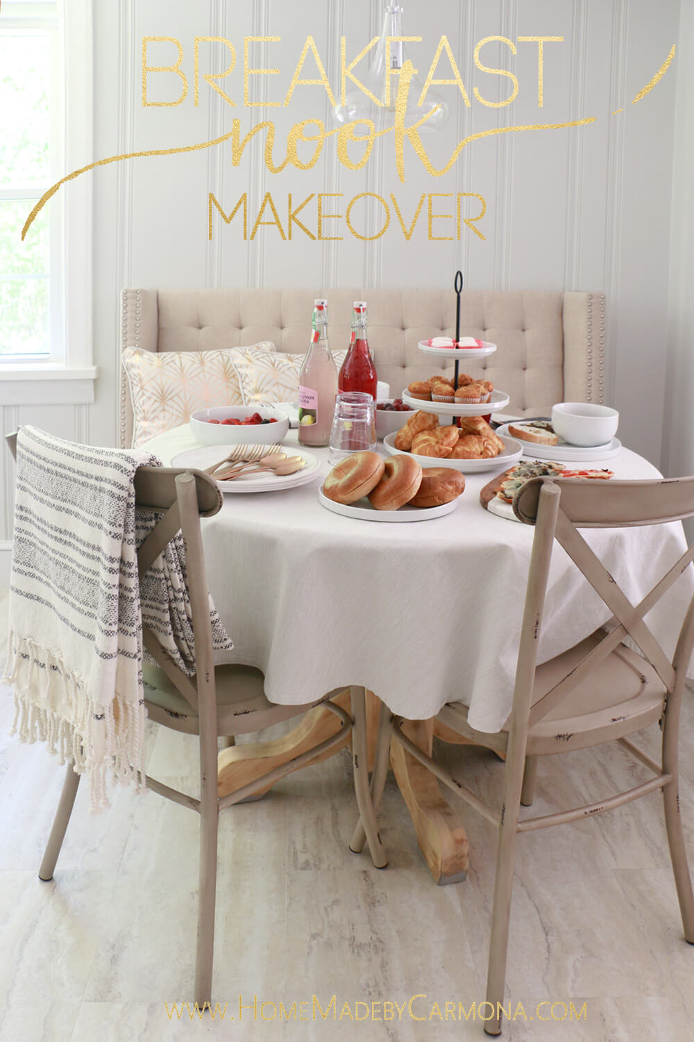 Breakfast nook makeover - One Room Challenge