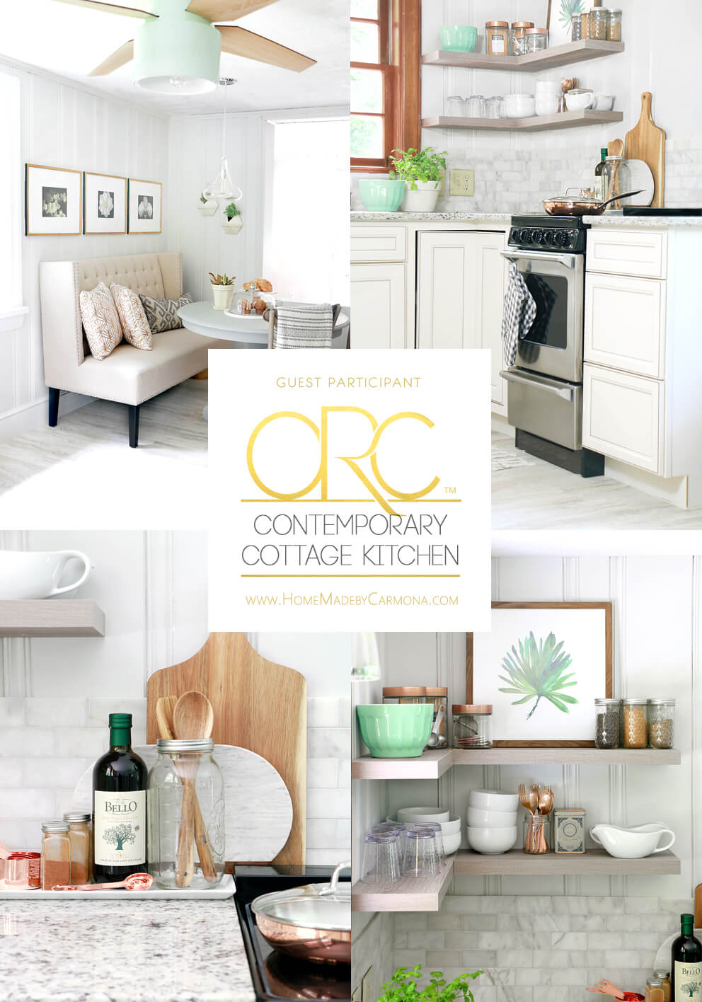 Contemporary Cottage Styled Kitchen Remodel - before and after